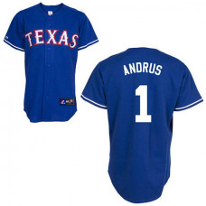 Texas Rangers #1 Elvis Andrus Blue Alternate Jersey