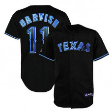 Texas Rangers #11 Yu Darvish Black Fashion Jersey