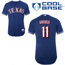 Texas Rangers #11 Yu Darvish Blue Cool Base Jersey