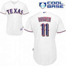 Texas Rangers #11 Yu Darvish White Cool Base Jersey
