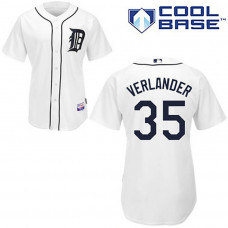 YOUTH Detroit Tigers #35 Justin VerlanderWhite Cool Base Jersey