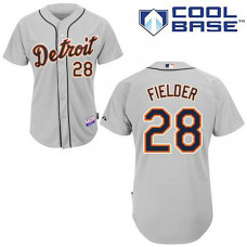 YOUTH Detroit Tigers #28 Prince FielderGrey Cool Base Jersey