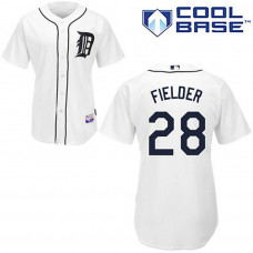 YOUTH Detroit Tigers #28 Prince FielderWhite Cool Base Jersey