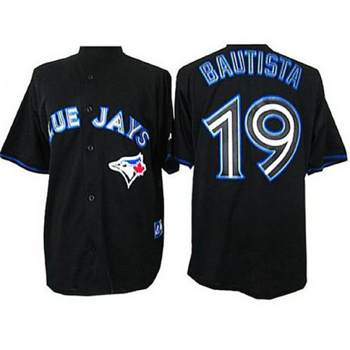 Toronto Blue Jays #19 Jose Bautista Black Fashion Jersey