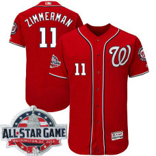 Washington Nationals #11 Ryan Zimmerman Scarlet 2018 All-Star Game Alternate Flex Base Player Jersey