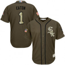 Chicago White Sox #1 Adam Eaton Olive Camo Jersey