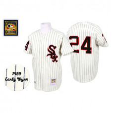 Chicago White Sox #24 Early Wynn White Home Throwback Jersey