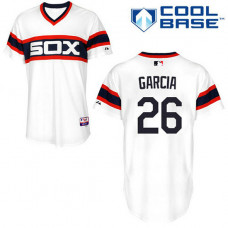 Chicago White Sox #26 Avisail Garcia Authentic White Alternate Cool Base Jersey