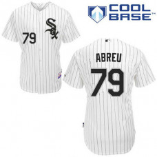 YOUTH Chicago White Sox #79 Jose AbreuAuthentic White Home Cool Base Jersey