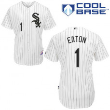 Chicago White Sox #1 Adam Eaton Authentic White Home Cool Base Jersey