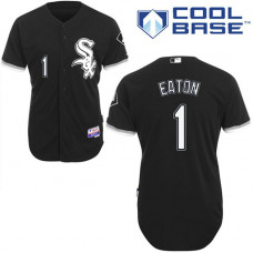 Chicago White Sox #1 Adam Eaton Authentic Black Alternate Cool Base Jersey