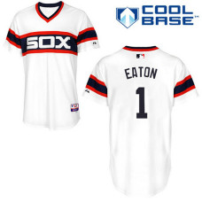 Chicago White Sox #1 Adam Eaton Authentic White Alternate Cool Base Jersey