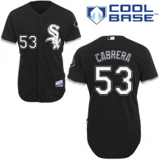 Chicago White Sox #53 Melky Cabrera Authentic Black Alternate Cool Base Jersey