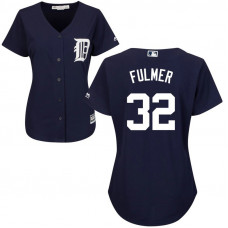 Women - Detroit Tigers Michael Fulmer #32 Alternate Navy Cool Base Jersey