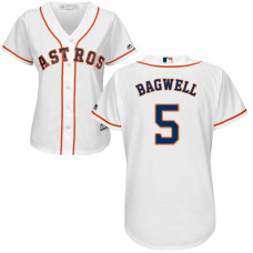 Women - Houston Astros Jeff Bagwell #5 Home White Cool Base Jersey