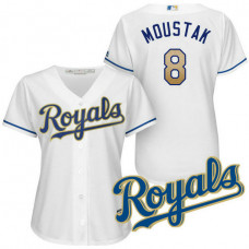 Women - Kansas City Royals Mike Moustakas #8 2017 Home White Cool Base Jersey