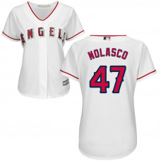 Women - Los Angeles Angels Ricky Nolasco #47 Home White Cool Base Jersey