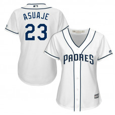 Women - San Diego Padres Carlos Asuaje #23 2017 Home White Cool Base Jersey