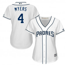Women - San Diego Padres Wil Myers #4 2017 Home White Cool Base Jersey