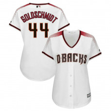 Women - Arizona Diamondbacks #44 Paul Goldschmidt Home White Cool Base Jersey