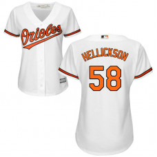 Women - Baltimore Orioles #58 Jeremy Hellickson Home White Cool Base Jersey