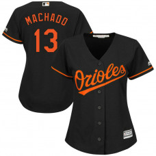 Women - Baltimore Orioles #13 Manny Machado Alternate Black Cool Base Jersey