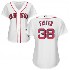 Women - Doug Fister #38 Boston Red Sox Home White Cool Base Jersey