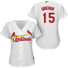Women - St. Louis Cardinals #15 Randal Grichuk White Cool Base Home Jersey