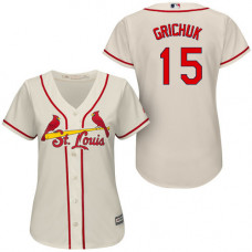 Women - St. Louis Cardinals #15 Randal Grichuk White Cool Base Jersey