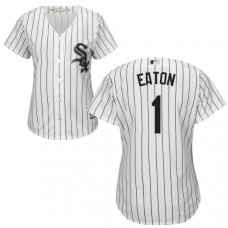 Women - Chicago White Sox Adam Eaton #1 White Authentic Cool base Jersey