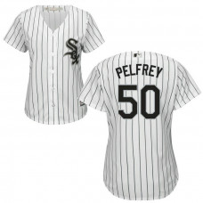 Women - Chicago White Sox #50 Mike Pelfrey Home White Cool Base Jersey