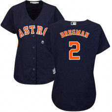 Women - Alex Bregman #2 Houston Astros Alternate Navy Cool Base Jersey