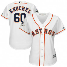 Women - Dallas Keuchel #60 Houston Astros 2017 World Series Bound White Cool Base Jersey