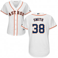 Women - Houston Astros #38 Joe Smith Home White Cool Base Jersey