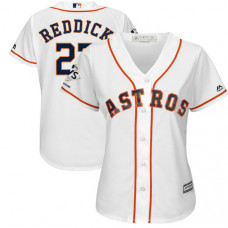 Women - Houston Astros Josh Reddick #22 White 2017 World Series Champions Patch Cool Base Jersey