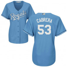 Women - Melky Cabrera #53 Kansas City Royals Alternate Light Blue Cool Base Jersey