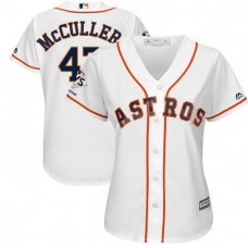 Women - Houston Astros Lance McCullers #43 White 2017 World Series Champions Patch Cool Base Jersey