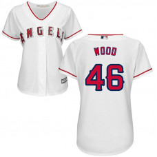 Women - Blake Wood #46 Los Angeles Angels Home White Cool Base Jersey