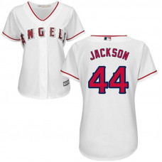 Women - Reggie Jackson #44 Los Angeles Angels Authentic Home White Cool Base Jersey