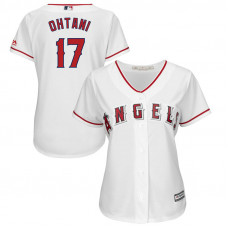 Women - Los Angeles Angels #17 Shohei Ohtani Home White Cool Base Jersey