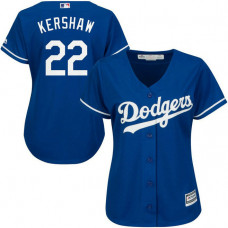 Women - Los Angeles Dodgers #22 Clayton Kershaw Alternate Royal Cool Base Jersey