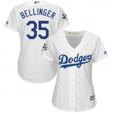 Women - Cody Bellinger #35 Los Angeles Dodgers 2017 World Series Bound White Cool Base Jersey