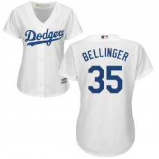 Women - Los Angeles Dodgers #35 Cody Bellinger Home White Cool Base Jersey