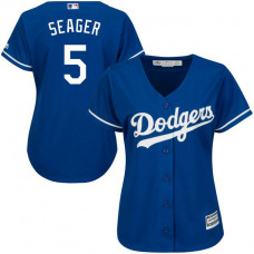 Women - Los Angeles Dodgers #5 Corey Seager Alternate Royal Cool Base Jersey