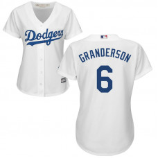 Women - Los Angeles Dodgers #6 Curtis Granderson Home White Cool Base Jersey