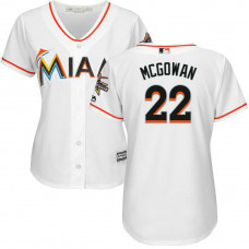 Women - Miami Marlins #22 Dustin McGowan 2017 All-Star Game Patch White Cool Base Jersey