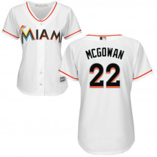 Women - Miami Marlins #22 Dustin McGowan Home White Cool Base Jersey
