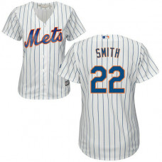 Women - Dominic Smith #22 New York Mets Home White Cool Base Jersey