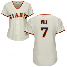 Women - San Francisco Giants #7 Aaron Hill Home Cream Cool Base Jersey