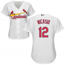 Women - St. Louis Cardinals #12 Juan Nicasio Home White Cool Base Jersey